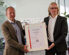 Zertifikatsübergabe bei der ECOSPEED AG in Zürich