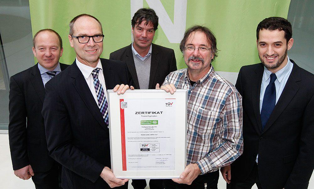 Zertifikatsübergabe bei den Stadtwerken Düsseldorf